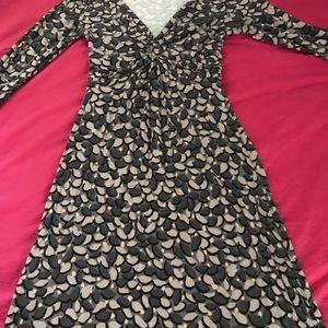 Boden printed wrap dress